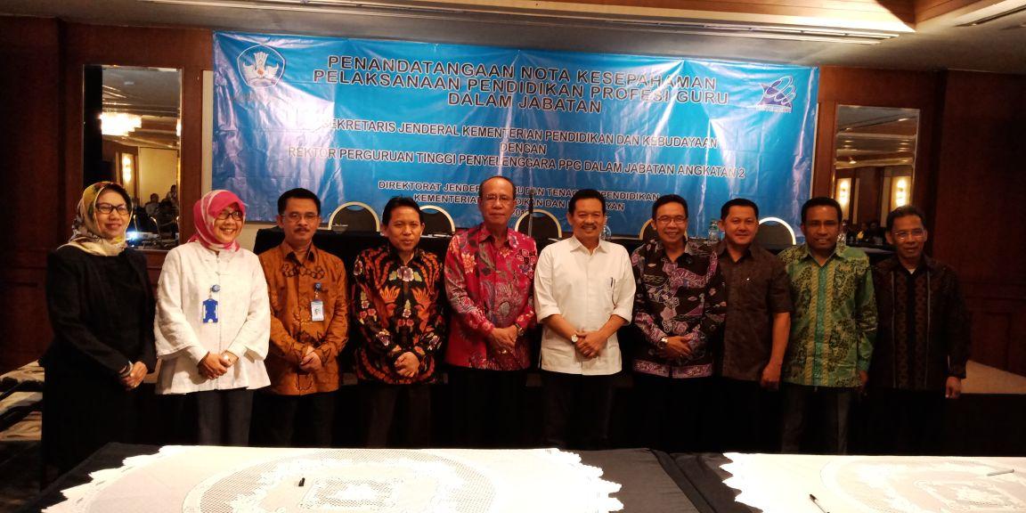 Teken MoU, UPGRI Palembang Penyelenggara PPG 2018