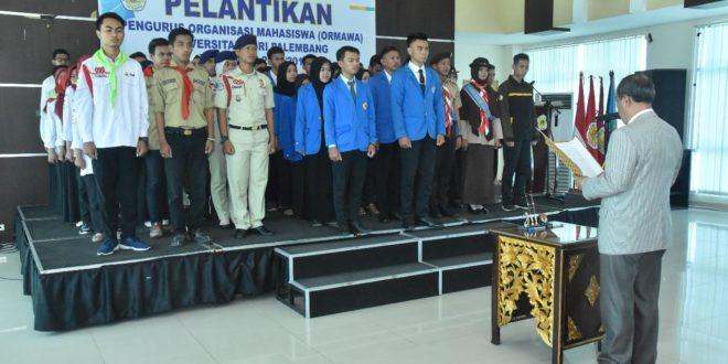 Pengurus Ormawa Universitas PGRI Palembang Masa Bakti 2018/2019 Resmi Dilantik