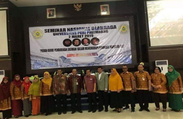 FKIP Universitas PGRI Palembang Sukses Gelar Seminar Nasional Olahraga