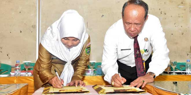 Rektor Universitas PGRI Palembang Lakukan Kerja Sama Dengan SMAN 1 Prabumulih