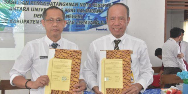Universitas PGRI Palembang Jalin Kerja Sama Dengan Lima SMK Negeri dan Swasta di Kabupaten PALI