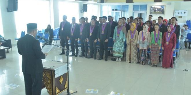 Fakultas Teknik Universitas PGRI Palembang Gelar Yudisium ke-36