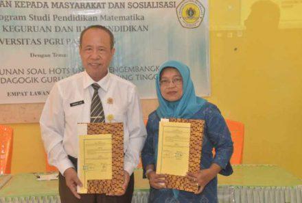 'Tebing Tinggi' Pun Tak Halangi Rektor Universitas PGRI Palembang Untuk Menyapa Guru