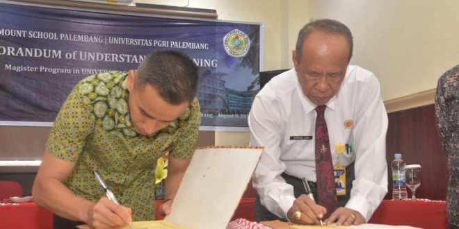 Tingkatkan Kompetensi Guru, Paramount School Jalin Kerja Sama Dengan Universitas PGRI Palembang