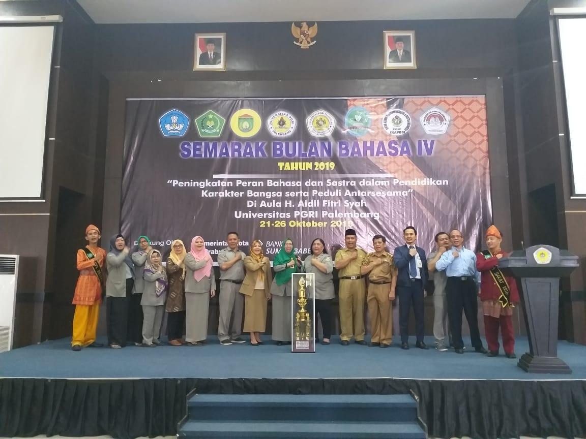 Semarak Bulan Bahasa IV 2019, Universitas PGRI Palembang Gelar Seminar dan Berbagai Tangkai Perlombaan