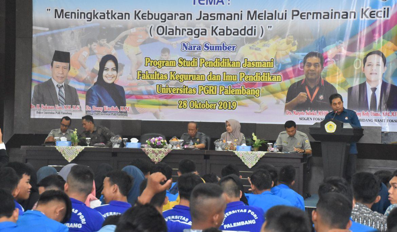 PB FOKSI Tunjuk Universitas PGRI Palembang Menjadi 'Leader' Mengembangkan Olahraga Kabaddi di Sumsel