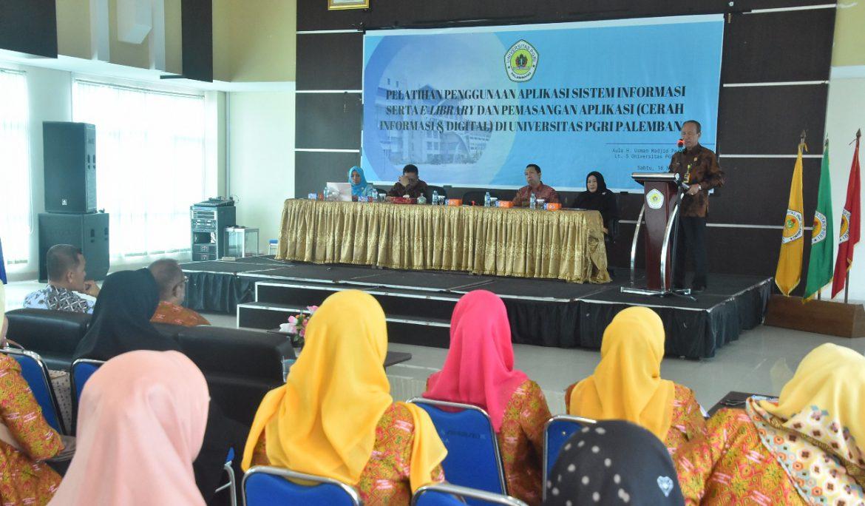 Tingkatkan Pelayanan Perpustakaan, Universitas PGRI Palembang Gelar Pelatihan Pengunaan Aplikasi Sistem Informasi