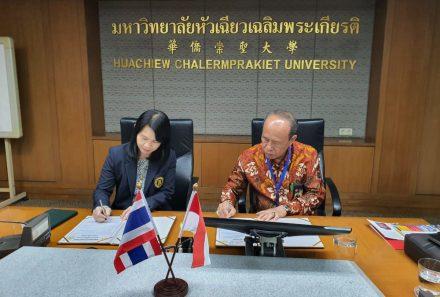 Universitas PGRI Palembang Jalin Kerja Sama dengan Huachiew Chalemrprakeit University, Bangkok-Thailand