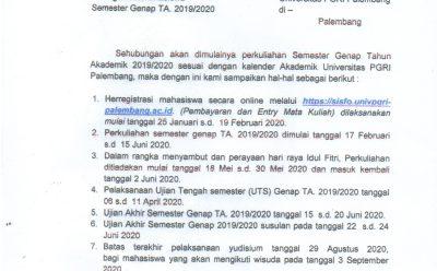 Pengumuman Herregistrasi Mahasiswa Semester Genap T.A 2019/2020