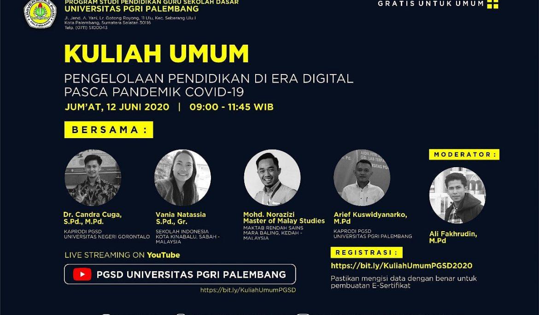 PGSD FKIP Universitas PGRI Palembang Gelar Kuliah Umum On Line Gratis