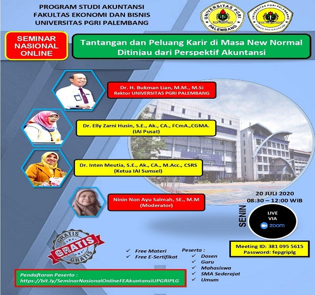 Universitas PGRI Palembang is inviting you to a scheduled Zoom meeting.