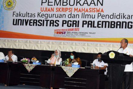 Tetap Jaga Protokol Kesehatan, FKIP Universitas PGRI Palembang Gelar Ujian Skripsi Mahasiswa