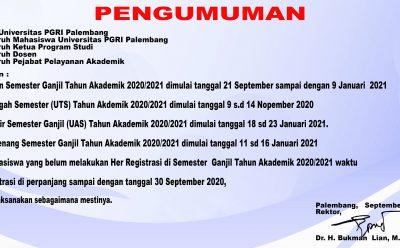 PENGUMUMAN HER REGISTRASI 2020/2021