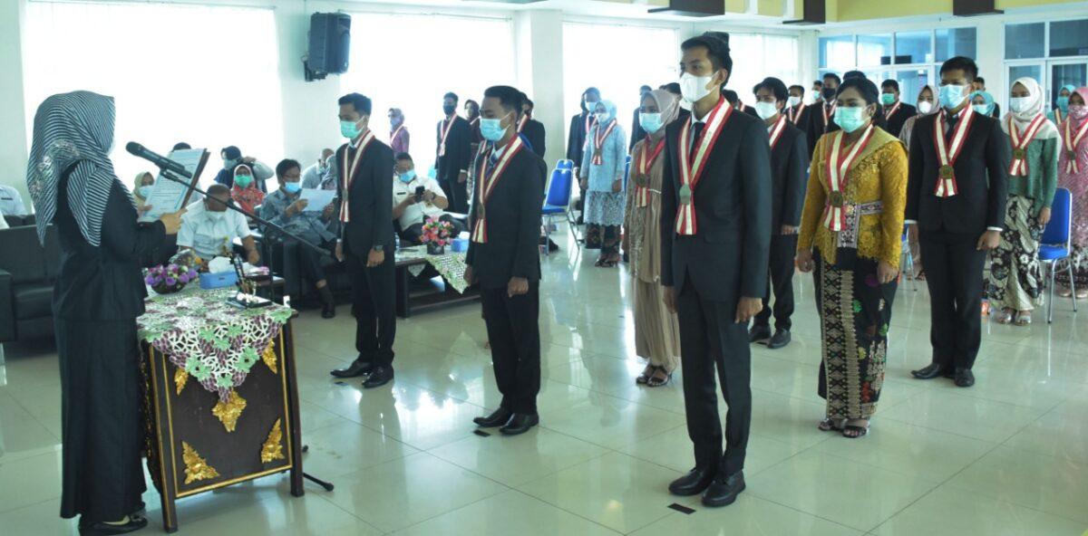 FKIP Universitas PGRI Palembang Gelar Yudisium ke-119 dengan Protokol Kesehatan Ketat