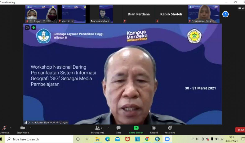 Universitas PGRI Palembang dan LLDIKTI Wilayah II Gelar Workshop Pemanfaatan SIG Sebagai Media Pembelajaran