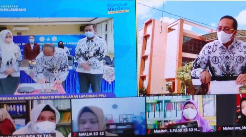 Virtual, Pelepasan 1.132 Mahasiswa PPL UPGRI Palembang
