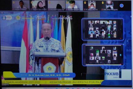 Sambut Mahasiswa Baru, Universitas PGRI Palembang Gelar PKKMB Secara Virtual