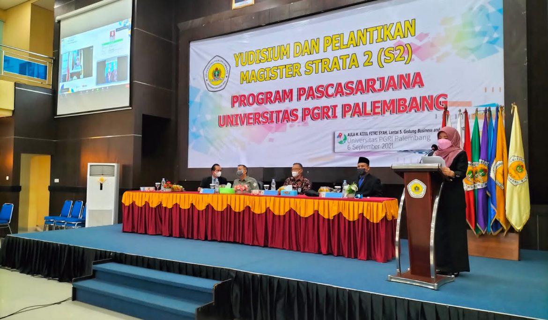 156 Mahasiswa Pascasarjana Universitas PGRI Palembang Diyudisium Secara Virtual