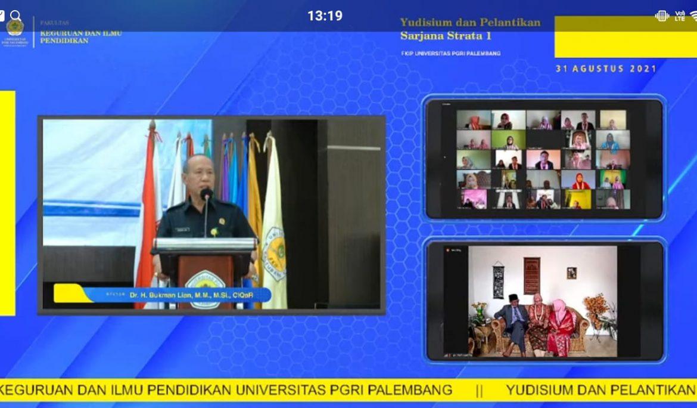 Yudisium dan Lantik 159 Sarjana Baru, FKIP Universitas PGRI Palembang Terbesar dalam Lingkungan LL Dikti Wilayah II